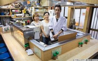 まずはシロ、オフロで日本酒、シメはラーメン! モツ焼きとラーメンの店「のんきや」:今夜はコの字で