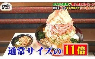 <衝撃>高さ40cm!「リアル富士そば」ってナニ?:デカ盛りハンター